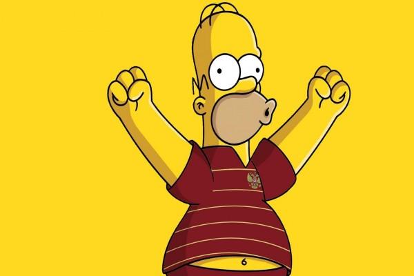 Homer Simpson feliz