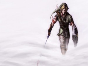 Link tras una batalla (The Legend of Zelda)