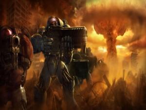Terran luchando (StarCraft II)