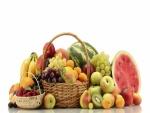 Cestas con frutas variadas
