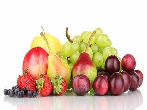 Frutas de varios colores