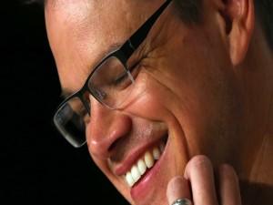 La sonrisa de Matt Damon