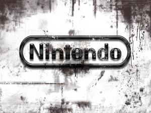 Logo de Nintendo blanco y negro