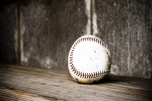 Una vieja pelota de béisbol