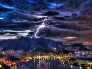 Tormenta eléctrica en Río de Janeiro