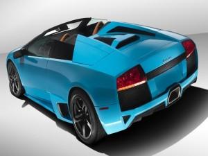 Lamborghini Murciélago de color azul