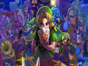 "Link y otros personajes de ""The Legend of Zelda: Majora's Mask 3D"""