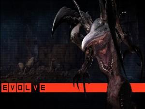 "Un monstruo alienígena de ""Evolve"""