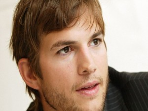La cara del actor Ashton Kutcher