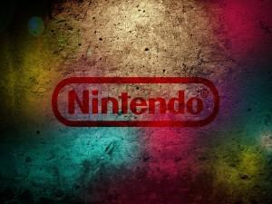 Logo de Nintendo sobre una pared de colores