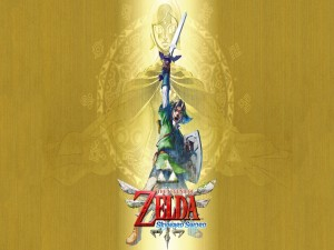 "Portada para Wii del juego ""The Legend of Zelda: Skyward Sword"""