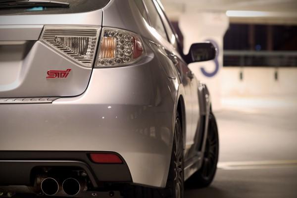 Parte trasera de un Subaru Impreza