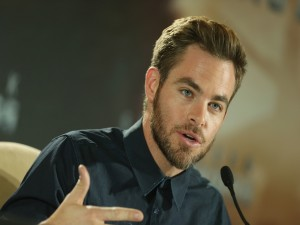 El actor Chris Pine en una conferencia de prensa