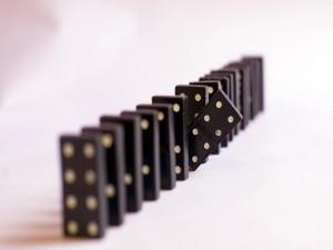 Fichas negras de dominó