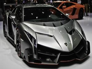 Lamborghini Veneno en una exposición