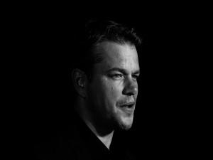 El actor Matt Damon en una imagen en blanco y negro