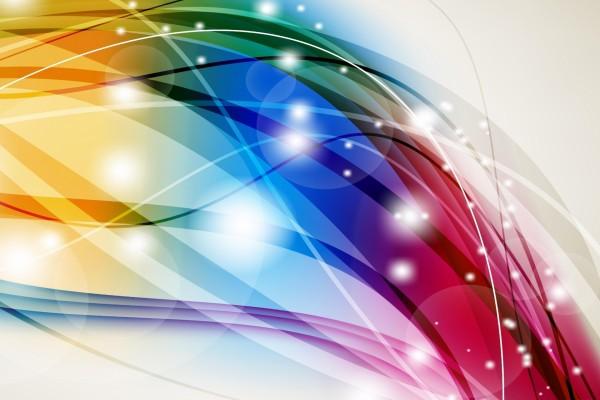 Ondas multicolores abstractas