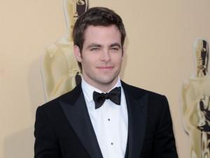 El guapo Chris Pine en la gala de Los Oscars