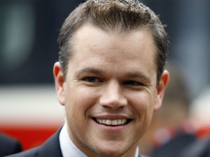 El actor Matt Damon sonriendo