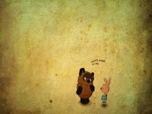 Un oso y un cerdo dialogando