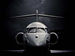 Frontal de un avión