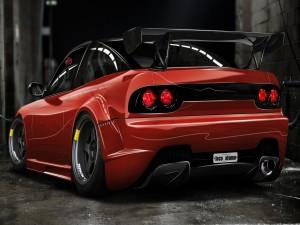 Un bonito deportivo rojo