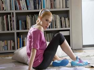 La actriz Scarlett Johansson con ropa deportiva