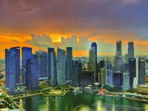 Rascacielos en Singapur