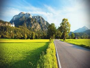 Carretera que conduce hacia el castillo de Neuschwanstein