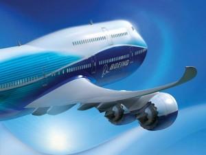 Airbus Boeing 3D volando en un cielo azul