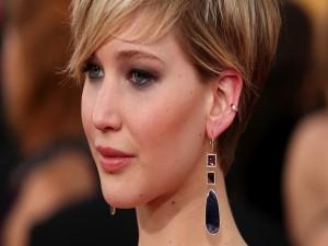 La actriz Jennifer Lawrence con el pelo corto