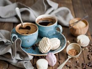 Café y macarons