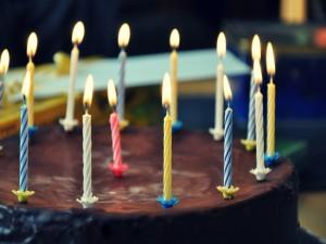 Tarta de chocolate para celebrar un cumpleaños