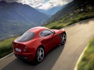 Alfa Romeo tomando una curva