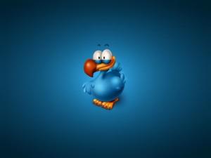 Un simpático pájaro azul