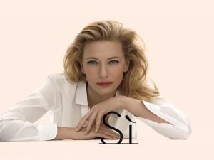 """Cate Blanchett promocionando el perfume """"Sí de Giorgio Armani"""""""