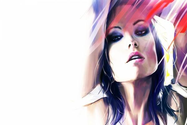 Retrato de la actriz Olivia Wilde