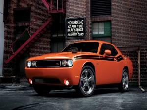 Dodge Challenger RT naranja