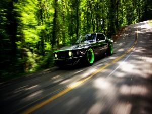 Ford Mustang RTR-X en una carretera