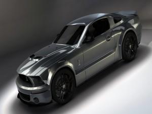 Un bonito Ford Mustang gris
