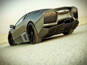Parte trasera de un Lamborghini