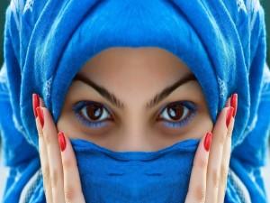 Bonitos ojos de una mujer