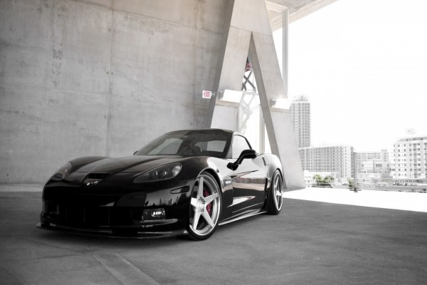 Chevrolet Corvette Z06 negro