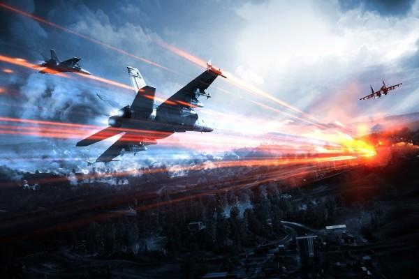 """Aviones en el cielo en """"Battlefield 3"""""""