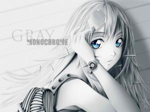 Chica anime con ojos azules