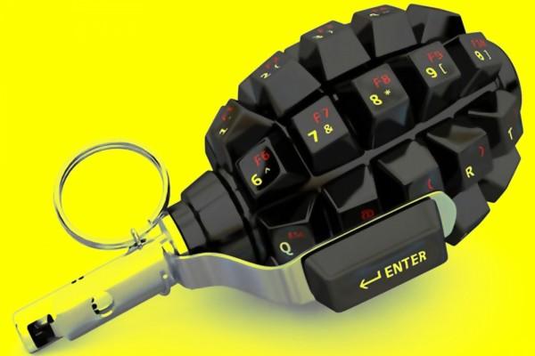 Teclado con forma de granada