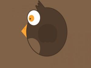 Un pájaro redondo y marrón