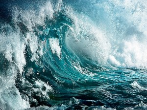 Olas en el océano