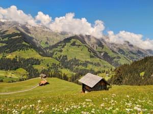 Casas en las montañas
