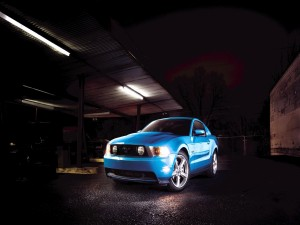 Ford Mustang GT de color azul